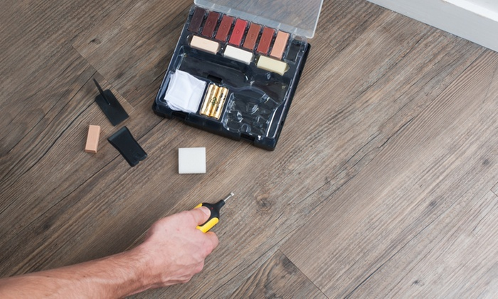 Laminate floor or worktop repair kit groupon for Kit reparation parquet
