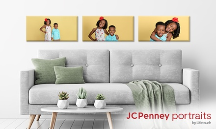 groupon.com - Professional In-Studio Photo Shoot and Canvas Print at JCPenney Portraits (Up to 86% Off)