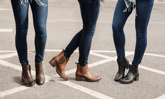 Redfoot Damen Ankle Boots in Braun, Hellbraun oder Schwarz (79% sparen*)