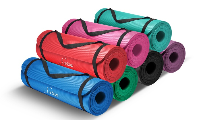Sivan Health and Fitness Extra Thick Foam Yoga Mat