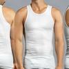 Men's 100% Cotton Tank Undershirts (12-Pack)
