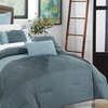 New Linen Collection Muriel Embroidered Comforter Set (7-Piece)