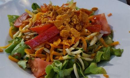 Menú vegetariano para 2 o 4 con entrante, principal, postre y bebida desde 19,95 € en Restaurante Ecovegetariano Gaia