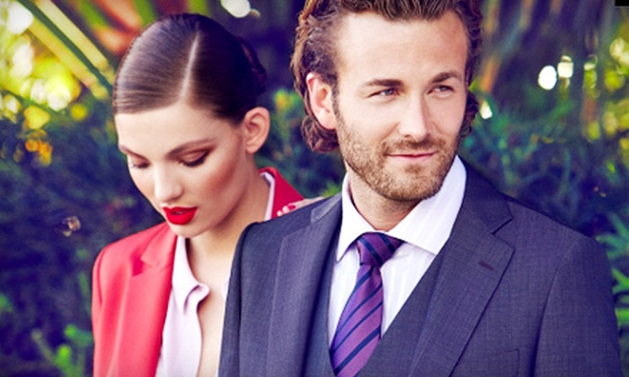 Le Chateau Outlet: Men's and Women's Apparel, Shoes, and Accessories at Le Chateau Outlet. Two Options Available.