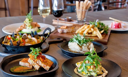 ThreeCourse Waterfront Dining with Wine for Two $59 or Four People $118 at Oscars Table Up to $276 Value