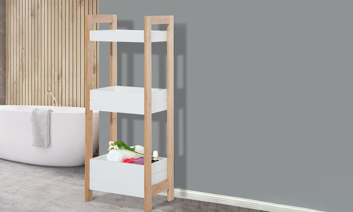 Off 3 Tier Bamboo Bathroom Cads