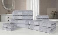 Dreamscene 10-Piece or 20-Piece Egyptian Cotton Towel Set