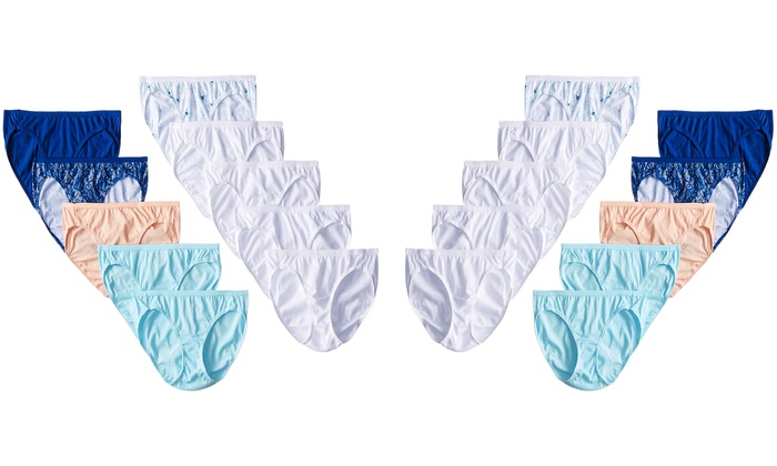 Hanes Women's Cotton Bikinis (20-Pack)