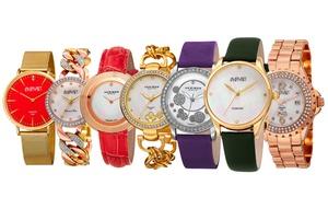 Blowout: August Steiner & Akribos Women's Genuine Diamond Watch