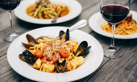 Fine-Dining Italian Lunch with Wine for Two ($29.50) or Four People ($55) at Delizioso, Two Locations (Up to $191 Value)