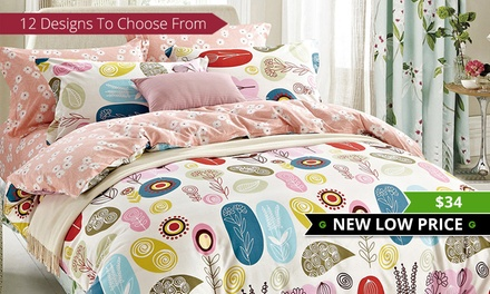 for an Egyptian Cotton Printed Quilt Cover Set in Choice of Design