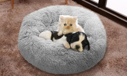 Portable Plush Round Pet Bed