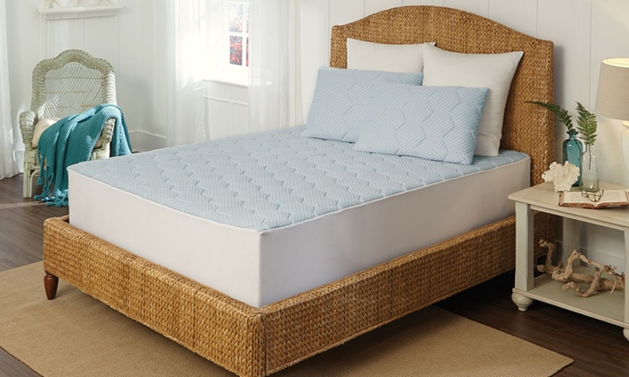 Up To 42 Off On Cooling Memory Foam Mattress Pad Groupon Goods