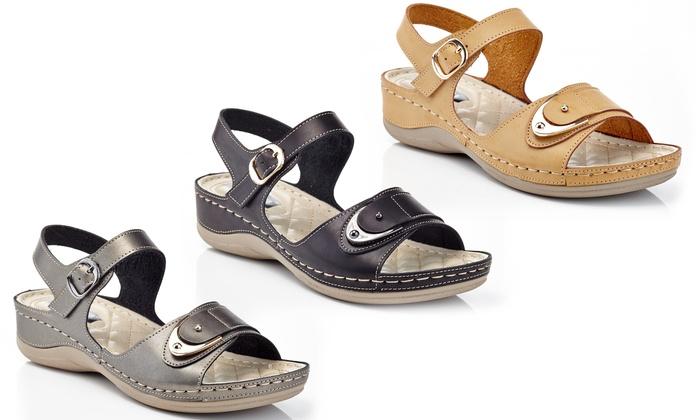 2d0bc34d665c Henry Ferrera Cindy Women s Wedge Comfort Sandals