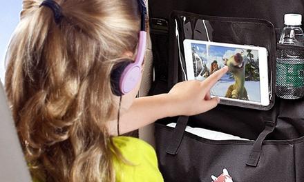 Organizador para asiento de coche con apartado para tablet