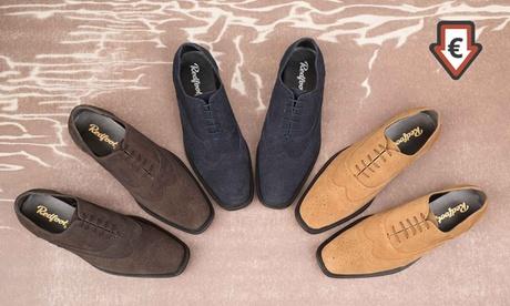 Zapatos Redfoot Oxford Brogue con punta cuadrada para hombre