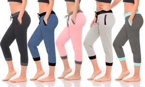 Women's Cropped French Terry Joggers (5-Pack)