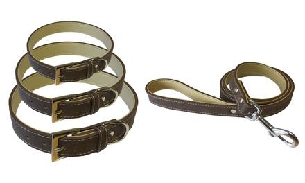 Bunty LeatherStyle Dog Collar or Lead