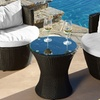 Outdoor Wicker Chat Set (3-Piece)