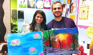 Corkscrews and Canvas: Painting Class for One or Two at Corkscrews and Canvas (Up to 40%Off)