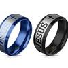 Unisex Jesus and Crosses Rings in Stainless Steel