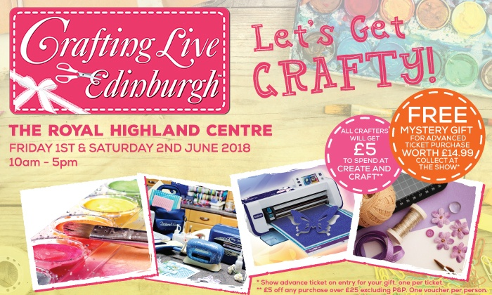 Crafting Live - Royal Highland Centre: Two Tickets to Crafting Live, 1 and 2 June at Royal Highland Centre (Up to 50% Off)