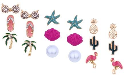 Three or Six Pairs of Stud Earrings
