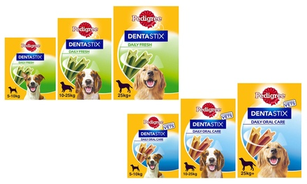 56, 112 or 224 Pedigree DentaStix Fresh or Daily Chew Sticks for Small, Medium or Large Dogs