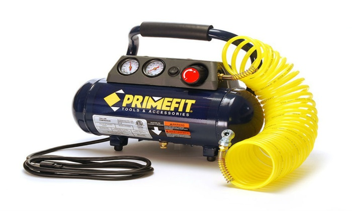 Primefit 1 Gallon 125 PSI Air Compressor with Regulator and Control Panel