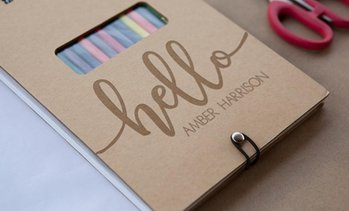 Up to 88% Off Personalized Sketch Pad from Qualtry