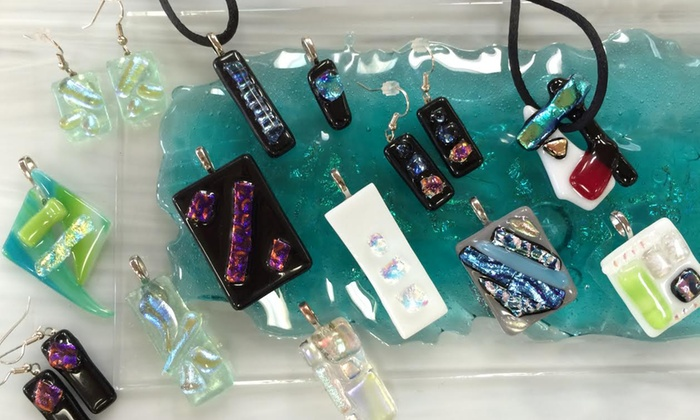 The Stained Glass Studio of Clearwater - Clearwater: One-Hour Fused Dichroic Glass Pendant Class for 1 or 2 at The Stained Glass Studio of Clearwater (Up to 53% Off)