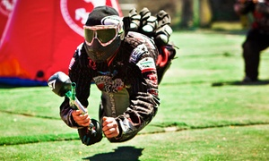 Paintball International: All-Day Paintball Package with a Gun and Mask for Up to 4, 6, or 12 at Paintball International (Up to 89% Off)