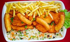 Restaurante Casarrara: Supremo de frango à cubana para 2 ou 4 pessoas no Restaurante Casarrara – Matatu
