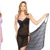 Women's Open-Back Bikini Coverup Wrap Dress