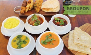 Vandiar's: Two-Course Indian Meal with a Glass of Wine Each from R179 for Two at Vandiar's Indian Cuisine (Up to 53% Off)