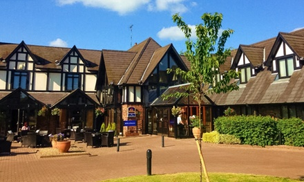 Gloucestershire: Standard Room for Two with Breakfast, Wine and Option for Dinner at Best Western The Gables Hotel