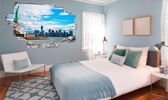 3d wandsticker aus vinyl groupon goods. Black Bedroom Furniture Sets. Home Design Ideas