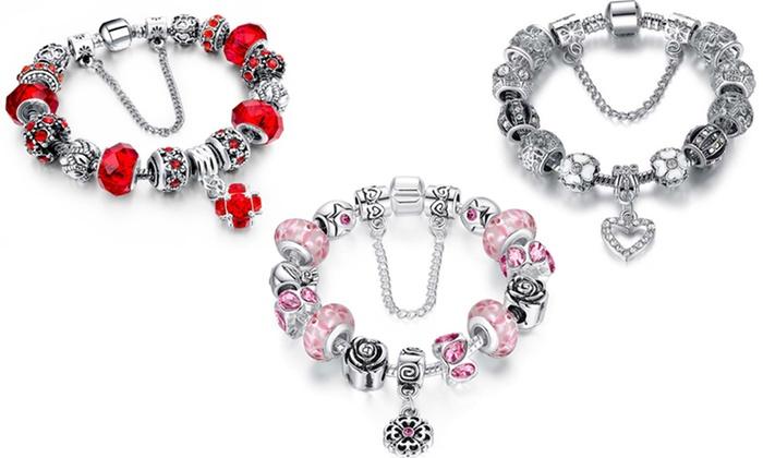 Genuine Murano Gl Charm Bracelets Made With Swarovski Elements