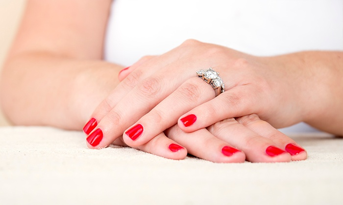 Anthony Nicole Salon - Anthony Nicole Salon: Full Set of Gel or Acrylic Nails or Shellac Manicure at Anthony Nicole Salon (Up to 51% Off)