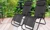 Set of Two Zero-Gravity Folding Chairs