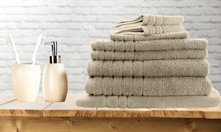 $29 for an Eight-Piece Egyptian Cotton Towel, Bath Mat and Bath Glove Set (Don't Pay $129.95)