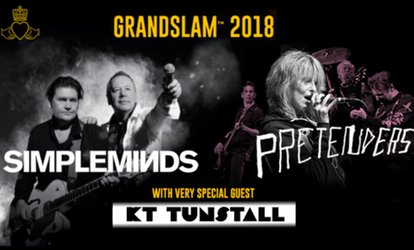Grandslam 2018 Tour: Simple Minds and The Pretenders, 3 August - 8 September, Multiple Locations, 2 tickets (£50)