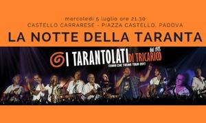 La notte della Taranta al Castello Carrarese di Padova: Ingresso per 2 persone per La Notte della Taranta, il 5 luglio al Castello Carrarese di Padova (sconto 41%)