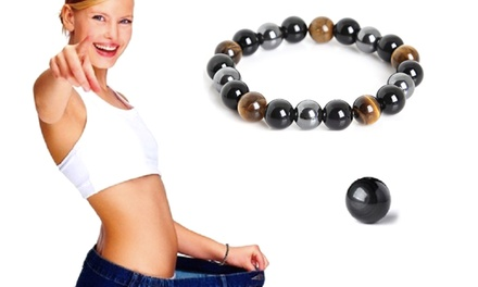 One, Two or Three Hematite Weight Management Magnetic Bracelets