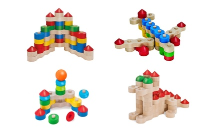 Set of 18, 22, 33 or 44 Heros Kids' Chain Building Blocks