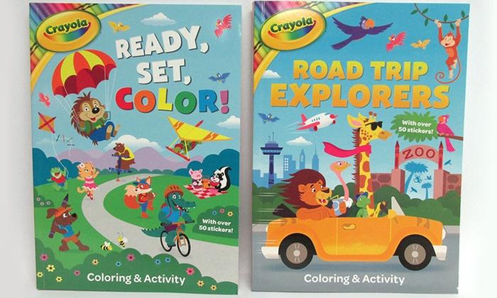 kids activity book set 2 piece groupon goods