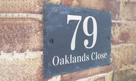 Slate House Sign for £12.49 With Free Delivery