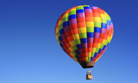 Hot Air Balloon Ride for One or Two with Picnic and Champagne from Sunrise Ballon Flights (Up to 43% Off)