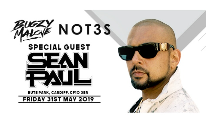 Sean Paul, Bugzy Malone & Not3s at Bute Park, Fri 31st May 2019 (Up to 38%  Off)