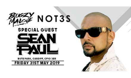 Sean Paul, Bugzy Malone & Not3s at Bute Park, Fri 31st May 2019